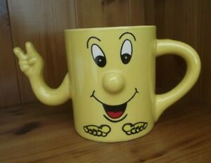 TRADEWINDS-FUNNY-FACE-YELLOW-WHITE-INNER-CUP-MUG-4-INCHES-10CM