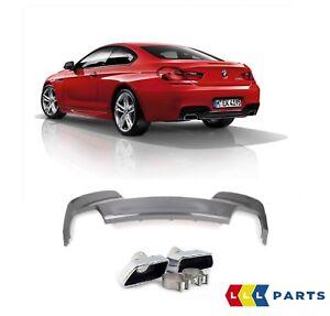 Nuevo-Genuino-BMW-serie-6-F12-F13-F06-640d-trasera-M-Sport-Difusor-con-Tubos-de-cola