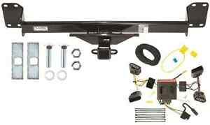 s l300 04 10 volkswagen vw touareg trailer hitch & wiring harness combo kit