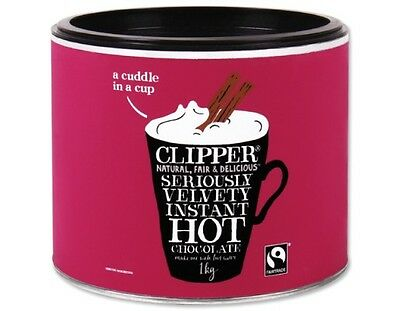 Clipper Instant Hot Drinking Chocolate 2 x 1kg - £10.49 a tin