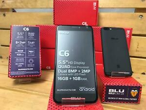 BLU-C6-BLACK-5-5-INCH-16GB-FACTORY-NEW-STYLE-Android-V-8-1-Oreo