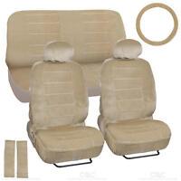 Regal Premium Velour Car Seat Covers - Full Auto Interior Accessories - Biege on Sale