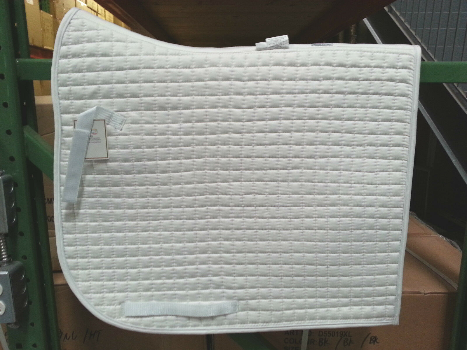 PRI 100% COTTON QUILTED OLYMPIC FLAG TAIL DRESSAGE SADDLE PAD EQUU-FELT  X-LONG