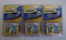 New Listinglot 3 Packs Brother P Touch M Tape 12 Inch Black On White M 231 New