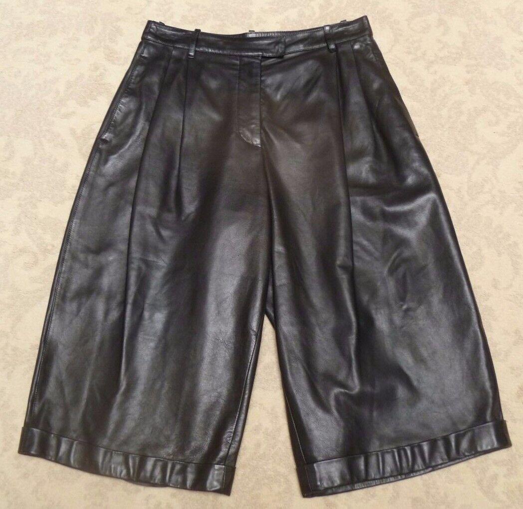 Genuine Alexander Mcqueen Leather Culottes