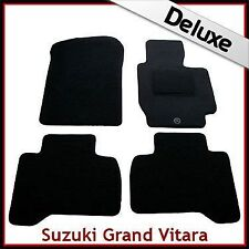Suzuki Grand Vitara Mk2 5-Door 2005-2015 Tailored LUXURY 1300g Car Mats BLACK
