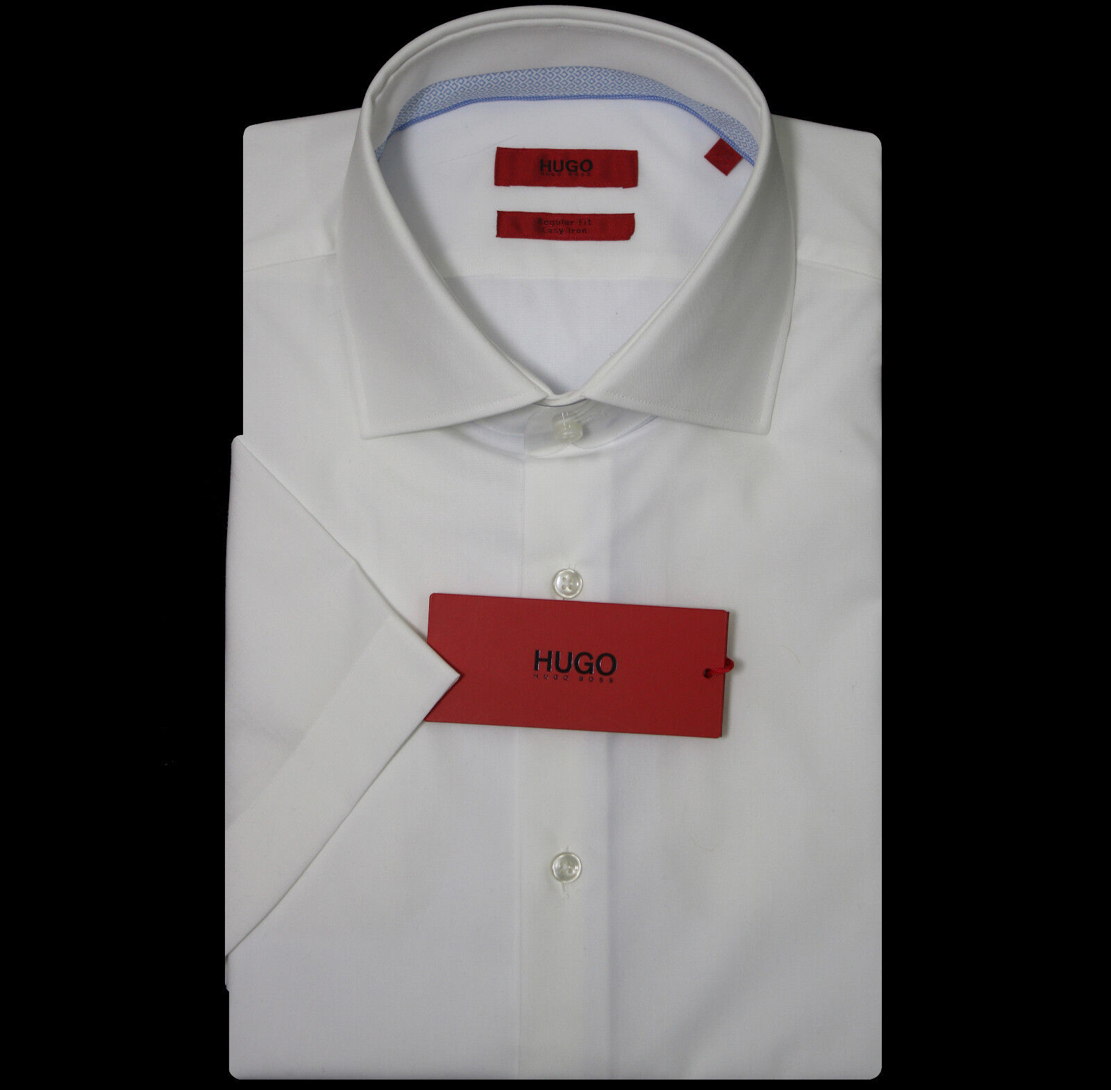 HUGO by HUGO BOSS Business-Hemd  mit kurzem Arm Gr. 42 NEU  Regular Fit