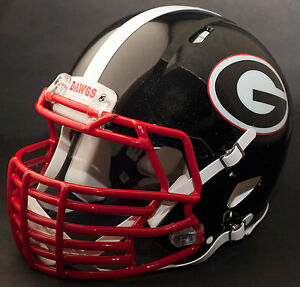 georgia bulldog helmets custom georgia bulldogs uga ncaa riddell speed replica 7635