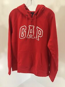 GAP BIG BOYS ARCH LOGO ZIP UP HOODIE RED XL NWT | eBay