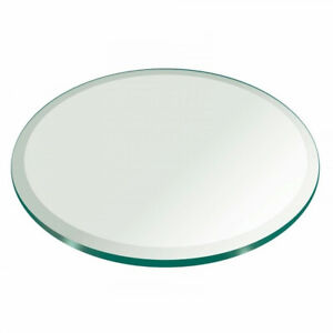 Glass-Table-Top-27-inch-Round-1-2-inch-Thick-Beveled-Polish-Tempered