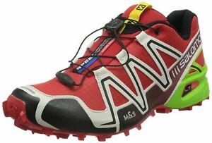 9dfd9a8e022e Salomon Men s Speedcross 3 Trail Running Shoes Radiant Red Lime ...