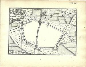Antique-map-Narbone-Narbonne