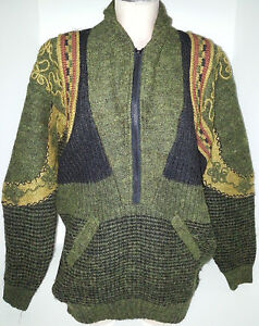 Grand Vert Rouille Fantasy Pull Floral Noir Zipper 1 Sz Womens Or 2 Front 44 0w6FqO64x