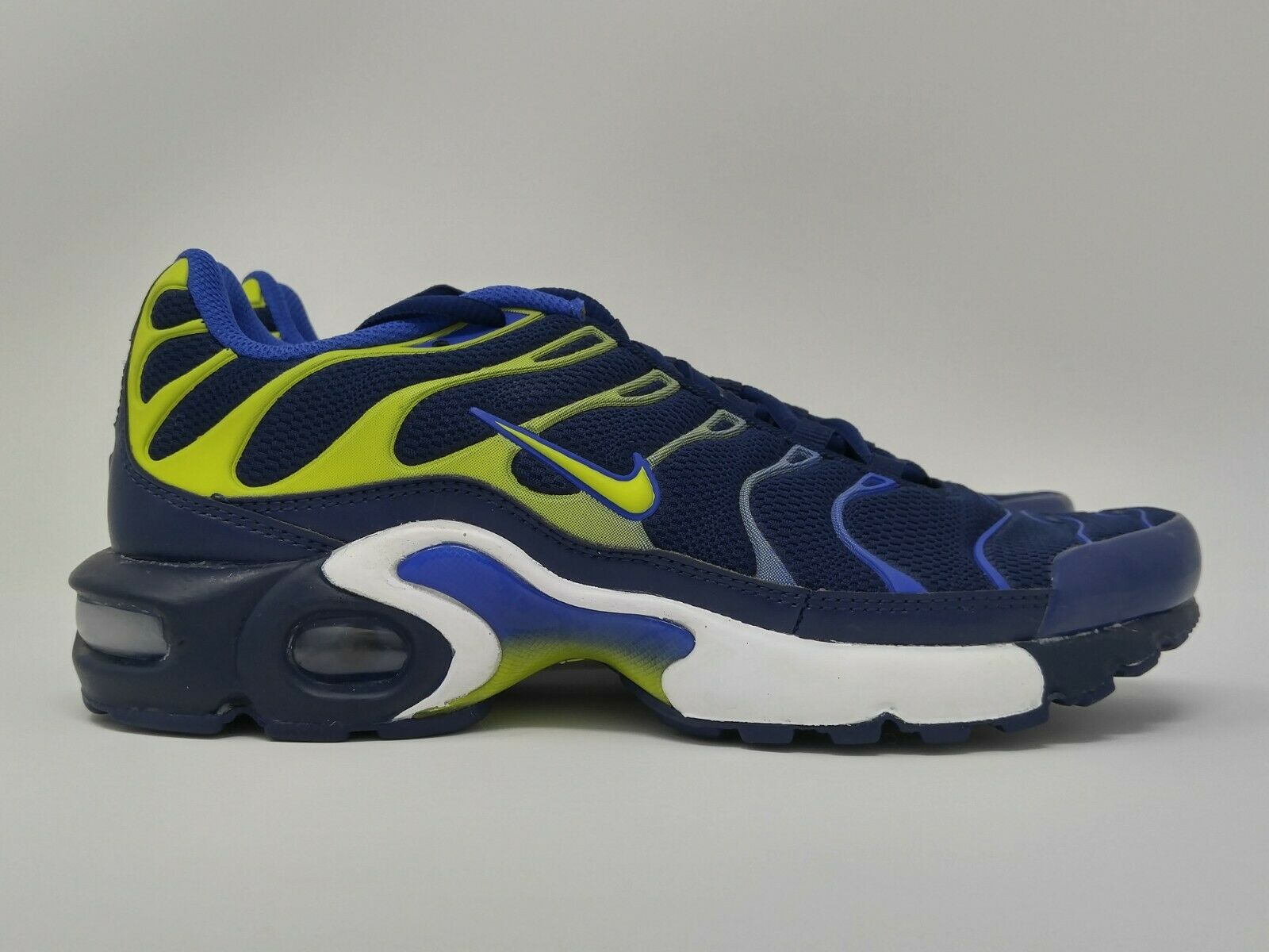 Nike Air Max Plus TN Binary Blue Yellow Neon GS Grade School Size 7Y 655020 407