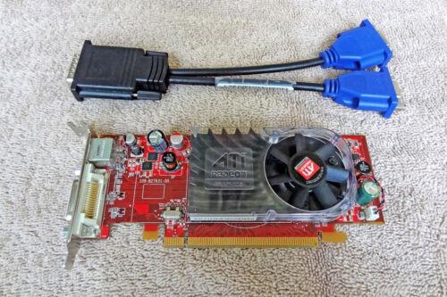 Dell ATI Radeon HD 2400 XT 256MB PCI-e Card CP309 DMS-59 Low Profile w// Cable