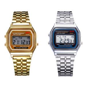 Fashion-Men-Women-Stainless-Steel-Casual-Watch-LED-Digital-Business-Wristwatch