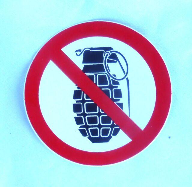 Aufkleber sticker Verbotsschild NO Weapons Waffenverbot im Club Bar 8cm