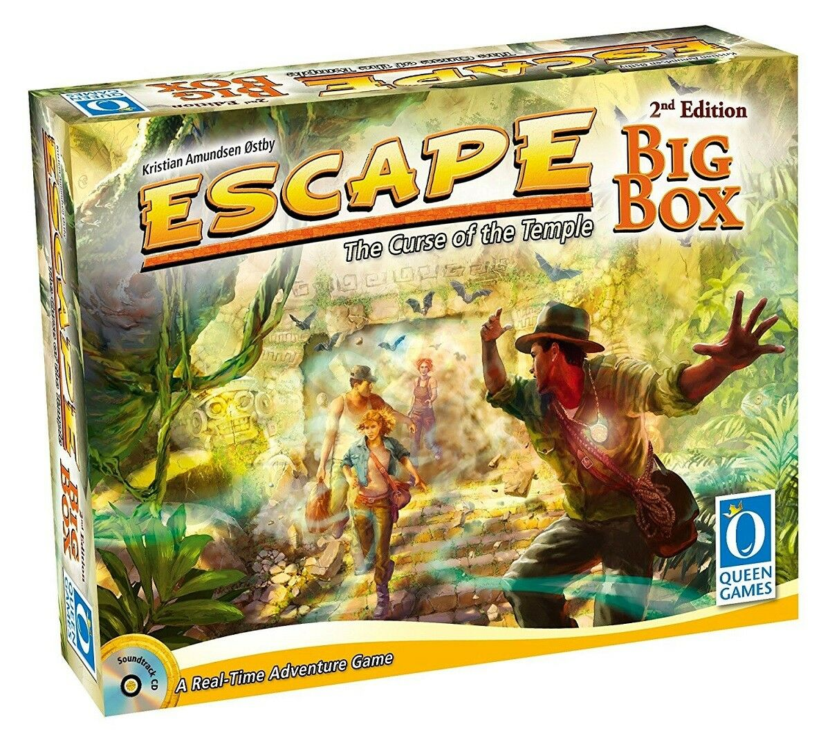 Escape  La Malédiction  du Temple-Big Box 2nd Edition-Queen Games 10353-Neuf  cherche agent commercial