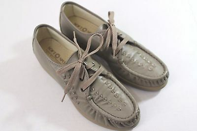 Leather Taupe Shoes Women's 7.5M All Day Comfort Nice USA Soft Spots Bonnie Lite