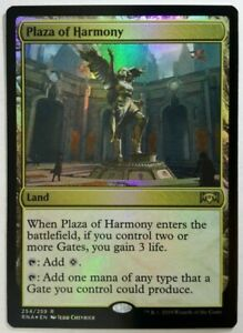 LOT# M535 MTG RAVNICA ALLEGIANCE 4x PLAZA OF HARMONY NM-MINT