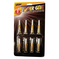 8 Pack Quality Super Glue Extra Strong Superglue for Plastic Glass Rubber Paper