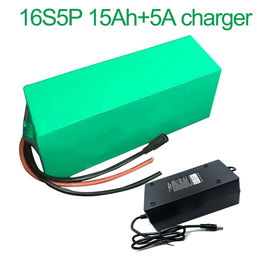 With 5A charger 60V 15Ah 16S5P Li-ion Battery electric motorcycle bicycle ebike