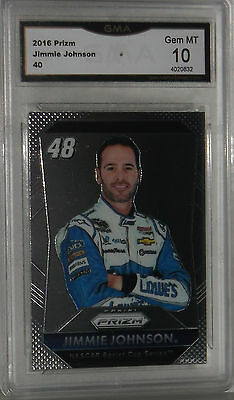 2016 Panini Prizm Jimmie Johnson #40 Gem Mt 10 By Gma Nice Card Ships Fast Tiempo Puntual