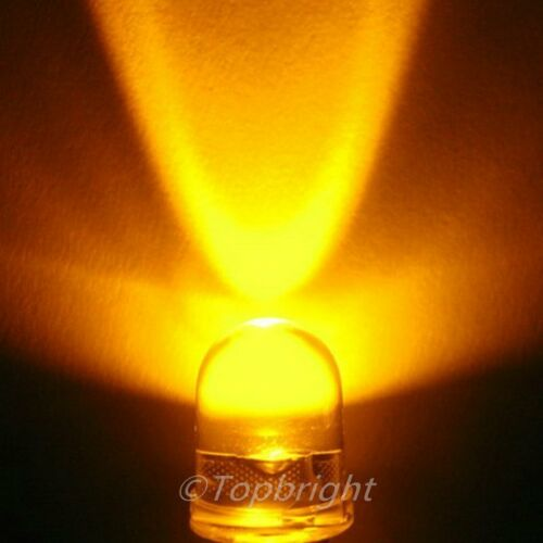 5 PCS 10mm 40° 1W Watt Orange LED 300mA 280,000mcd!NEW!