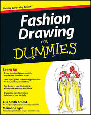 NEW BOOK FASHION DRAWING FOR DUMMIES PAPERBACK STEP BY STEP GUIDE FOR DESIGNERS