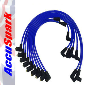 Ford-V8-289-amp-302-Engines-AccuSpark-8mm-Blue-Silicon-Performance-HT-leads