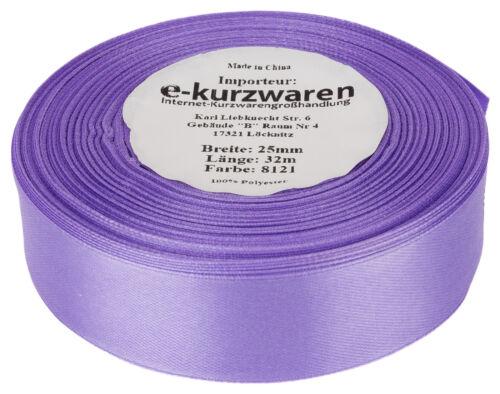 84 Farben Satinband 3mm//10m oder 91m 0,02€//m SCHLEIFENBAND Dekoband Geschenkband