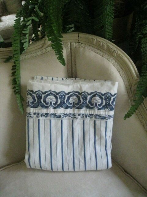 New Lauren Ralph Lauren /'Jonquil Striped/' 4 pc Queen Sheet Set White Blue