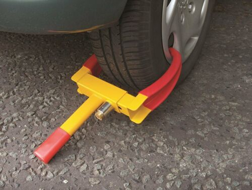 Car van HEAVY DUTY WHEEL CLAMP CLAW CARAVAN BOAT TRAILER high security lock 4x4