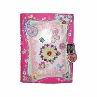 Butterfly Spring Garden Diary With Lock Set Notebook Journal Girls Gift Cute