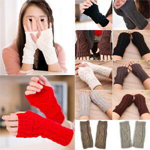 Women-Winter-Wrist-Arm-Hand-Thick-Knitted-Long-Fingerless-Gloves-Mitten-Warmer