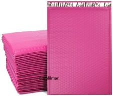 0 65x 10pink Color Poly Bubble Envelopes Mailers Bags Padded Shipping Mailing