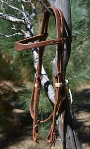 Jose-Ortiz-5-8-034-Working-Harness-Leather-Shape-Browband-Headstall-Tie-Ends