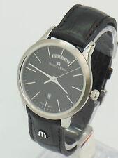 Men,s Maurice Lacroix Classic Quartz day & date wrist watch black dial boxed
