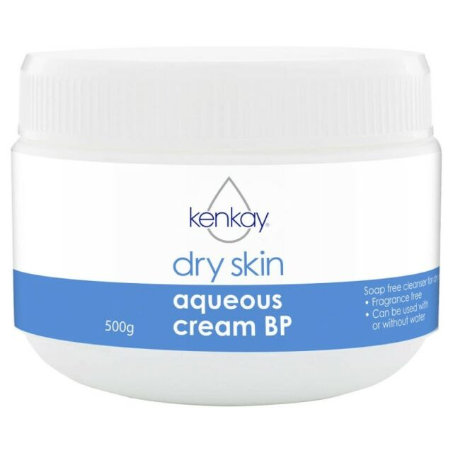 Kenkay Dry Skin Aqueous Cream BP 500g Jar Soap Free Cleanser for Dry Skin