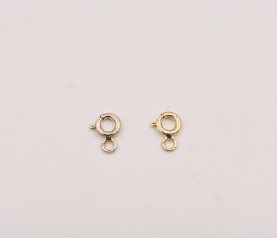 4.5mm 14k Yellow Gold Spring Ring Clasp OPEN Jump Ring JewelryMaven USA