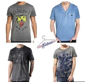 Diesel-Brand-New-Mens-039-Pure-100-Cotton-T-Shirt-Short-Sleeve-Size-S-M-L-XL