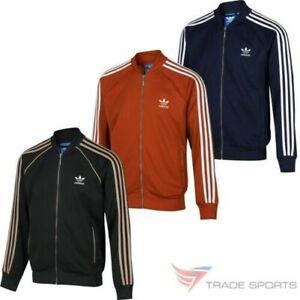 Adidas-Originaux-Superstar-Haut-de-Survetement-Vert-Rouge-Marine-Retro-Run-DMC