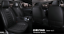 Car Seat Cover Standard 5-Sit Cushion Covers Black PU Leather Universal Full Set