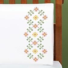 Herrschners Sweet Tweets Pillowcase Pair Stamped Cross-Stitch