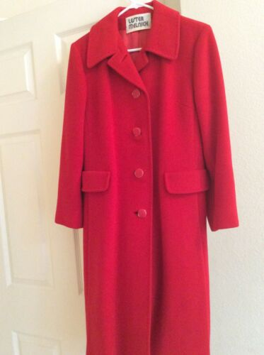 100% cashemere red coat