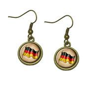 Vintage German Flag - Germany Dangle Dangling Drop Earrings