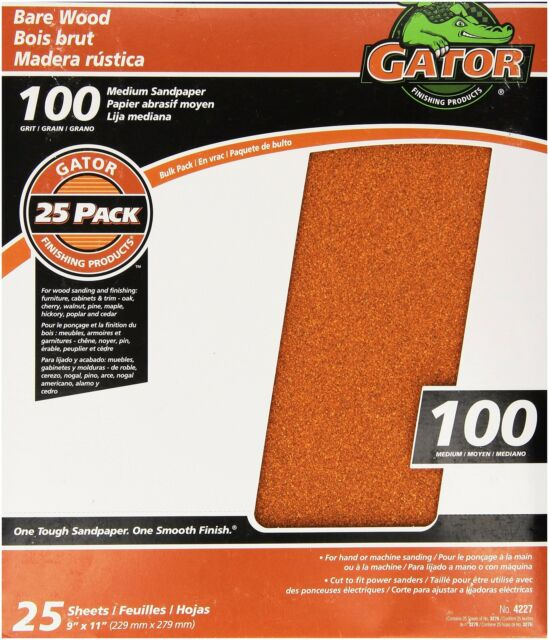 ALI INDUSTRIES 4473 320 Grit Sandpaper 5 sheets// pack 9-Inch x 11-Inch