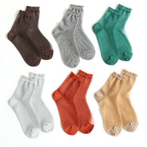 Glitter-Ankles-Socks-Fashion-Women-Spring-Summer-Shiny-Thin-Casual-Girls-Sox