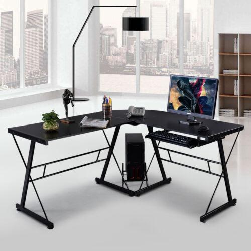 Computertisch Schreibtisch PC Tisch Winkelschreibtisch Bürotisch Eckschreibtisch