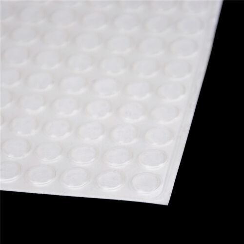 100 STÜCKE Tür Selbstklebende Gummi Tür Puffer Pad Füße Halbkreis Stoßstangen0U